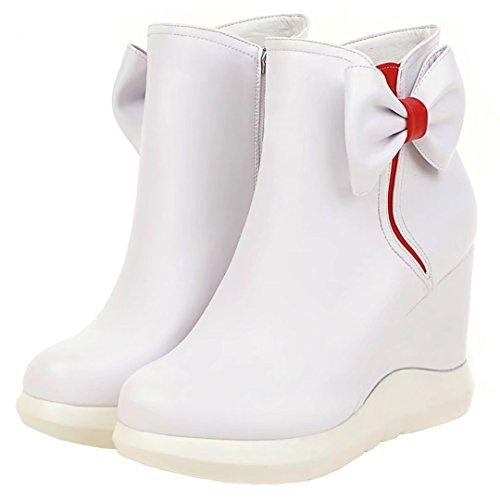 AIYOUMEI Women's Classic Boot White i2mKJWV5GR