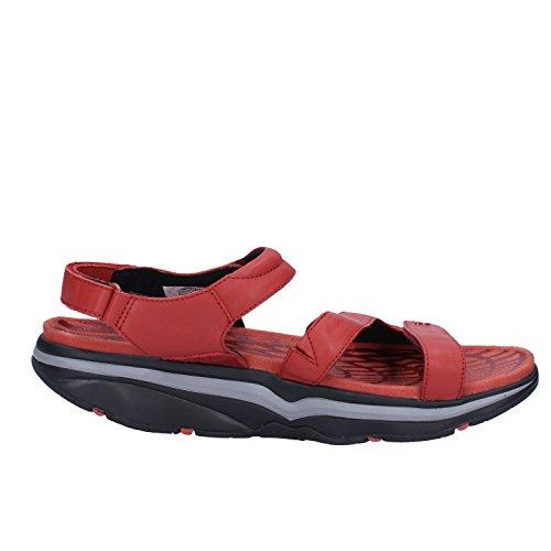 MBT Mujer zapatos con correa Rojo