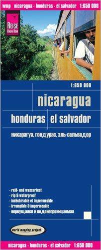Nicaragua, Honduras & El Salvador 1:650,000 waterproof, GPS-compatible map