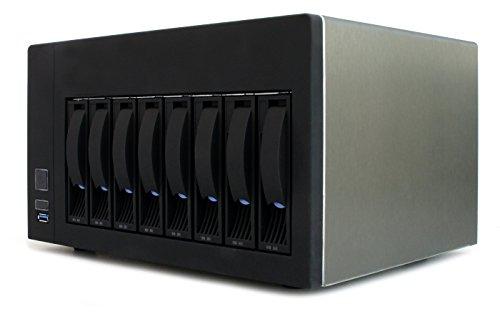 Will Jaya 8-Bay NAS 3.5' SATA HDD Hot-Swap Premium Mini-ITX NAS Cloud Storage Enclosure with 1 Expansion Slot and 350W 1U PSU