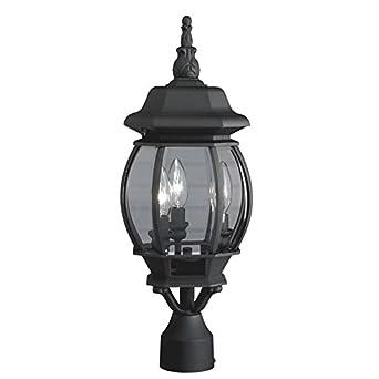 21.34 in Black Post Light Outdoor L& Patio Garden Yard Lighting Fixture Lantern  sc 1 st  Amazon.com & 21.34 in Black Post Light Outdoor Lamp Patio Garden Yard Lighting ...