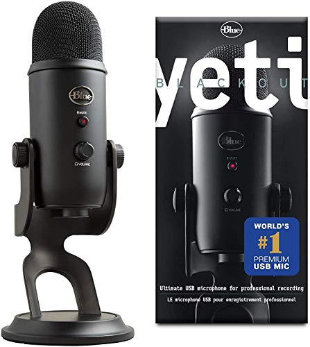 Blue Microphones Yeti USB Microphone - Blackout Edition 988-000100