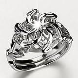 Pixel Jewelry 1985 - Nice LOTR The Galadriel Nenya Charm Topaz 925 Soild Sterling Silver Ring Size8
