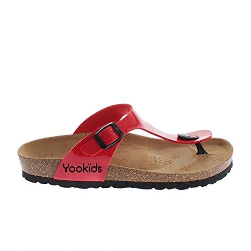 YOOKIDS - Tongs / Sandales - Craie - Rouge