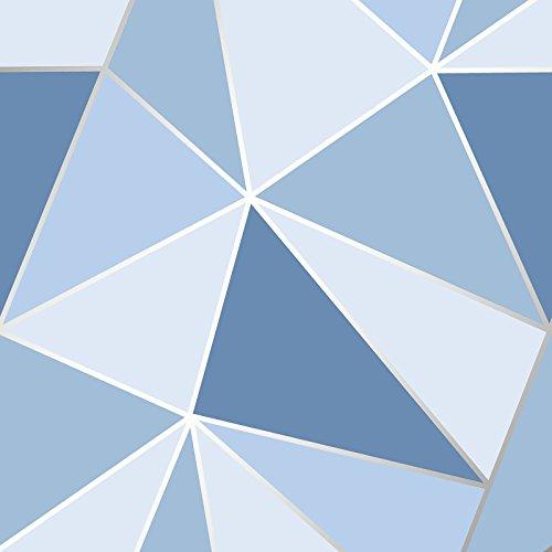 Apex Geometric Wallpaper Blue Fine Decor ()
