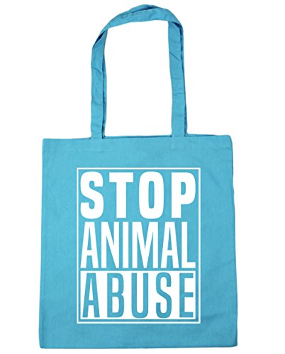 Stop 42cm Gym litres Shopping Beach Tote Surf Bag Blue Animal Abuse x38cm HippoWarehouse 10 RqH1wR