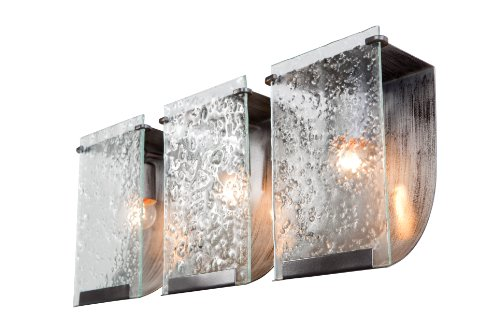 Varaluz Wall Lighting (Varaluz 160B03 Rain 3-Light Vanity - Rainy Night Finish with Rain Recycled Glass)