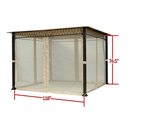 Universal 10 x 10 Gazebo Mosquito Netting Set by Garden Winds (Image #1)