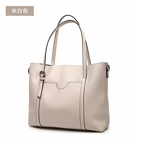 GUANGMING77 Borsa Tracolla,Grigio Rice white