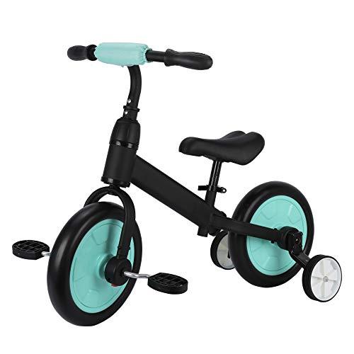 🥇 Sfeomi Bicicleta de Equilibrio para Niños 12 Pulgadas Bici para Niños con Pedales Desmontables Bicicleta de Equilibrio Infantil con Rueda Auxiliar
