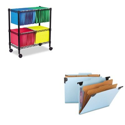 KITALEFW601426BLSMD65115 - Value Kit - Smead Six Section Hanging Classification Folder (SMD65115) and Best Two-Tier Rolling File Cart (ALEFW601426BL) by Smead