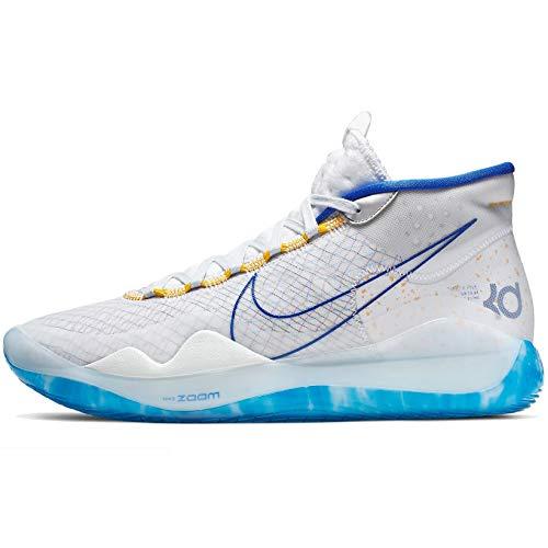 Nike Zoom KD 12 Basketball Shoes (M13/W14.5, White/Royal Blue)