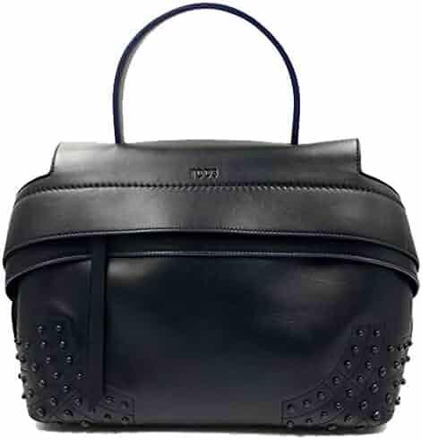64ee43c2775e Tod s Wave Mini Gommini Black Leather Satchel Ladies Handbag XBWAMRWG201