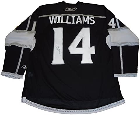 9e7cad909 Justin Williams Autographed Los Angeles Kings Black Jersey W PROOF ...