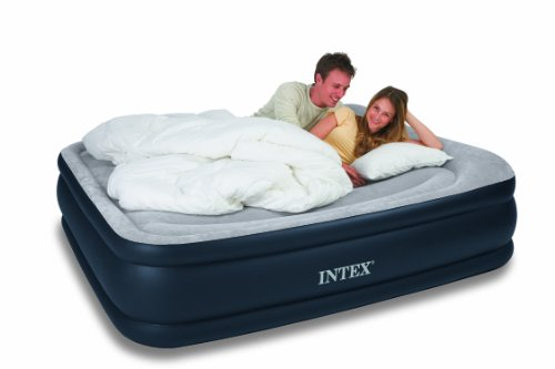 Intex Deluxe Pillow Rest Raised Comfort Queen, Outdoor Stuffs