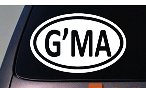 G'MA Grandma Oval Decal Vinyl Sticker|Cars Trucks Vans Walls Laptop| WHITE |5.5 x 3.5 in|CCI564 (Cookie Baskets Ma)