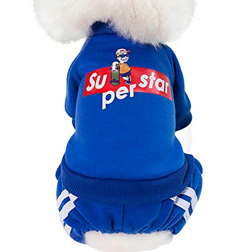 Loyanyy Pet Clothes for Dog Cat Cotton Puppy Hoodies with Button Warm Cute Kitten Outflies Coat