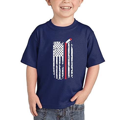1d448f9913 Hockey Stick in American Flag T-Shirt (Navy Blue