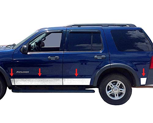 (Tyger Auto Made in USA! Works with 2002-2005 Ford Explorer XLS 4Door with Fender Flare 43590 1/2'' Wide 8PC Rocker Panel)