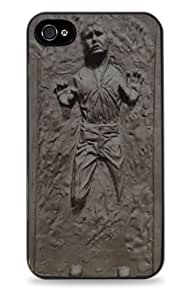 Silver Han Solo Frozen in Carbonite Star Wars Black 2-in-1 Protective Case with Silicone Insert for Apple iPhone 5 / 5S