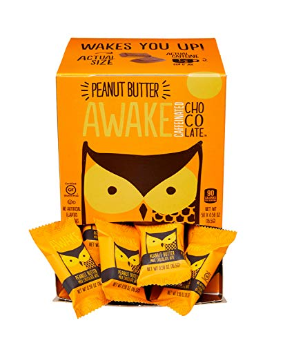 Awake Caffeinated Chocolate Energy Bites, Peanut Butter, 50 Count