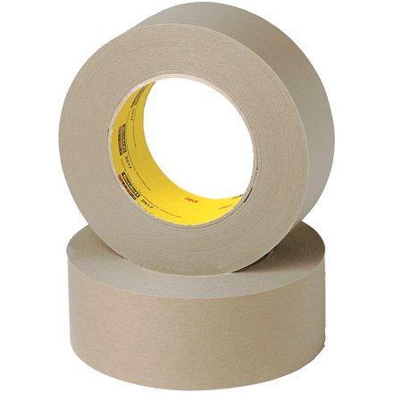 3M Tartan 2515 Kraft Paper Flat Back Masking Tape, 200 Degree F Performance Temperature, 36 lbs/in Tensile Strength, 60 yds Length x 3