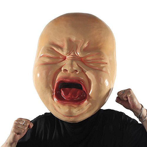 Halloween Mask. Best Costume, Dress, Outfit Supplies, Accessories For Scary, Cool, Creepy, Unusual, Spooky, Fun Party. For Children, Kids, Teens, Adults, Couples, Boys, Girls (Cry Baby)
