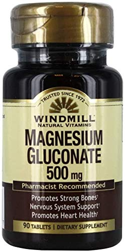 Magnesium Gluconate 500 Mg 90 Tb - From Windmill (2Pk)
