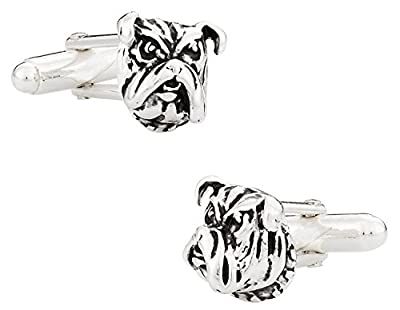 Cuff-Daddy Bulldog Cufflinks in Sterling Silver with Presentation Box