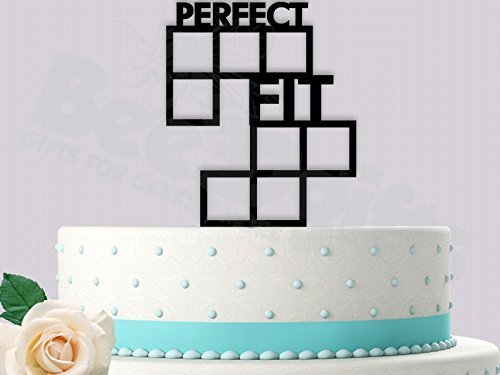 Perfect-Fit-Gamer-Wedding-Cake-Topper