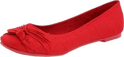 Rocket Dog Women's Memories Thai Silk Ballet Flat, Dark Red, 6 M US