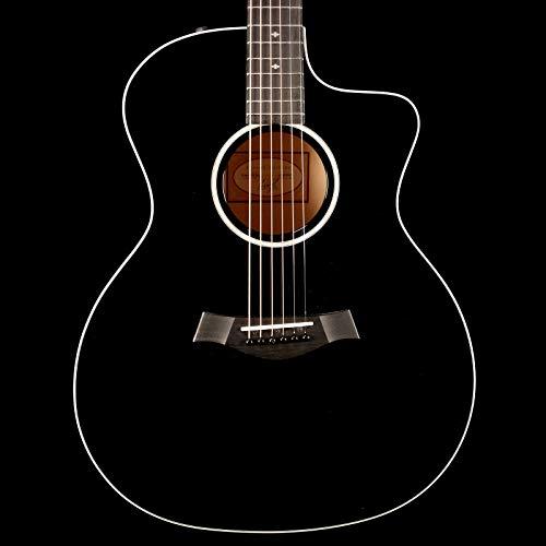 (Taylor 214ce-BLK DLX Grand Auditorium Sitka/Maple Acoustic-Electric Black)