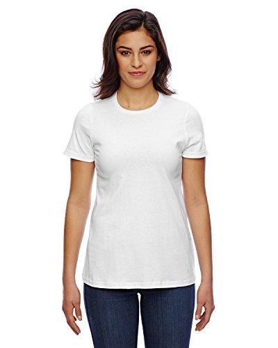 American Apparel Women's Fine Jersey Classic T-Shirt, White, - Jersey Apparel American