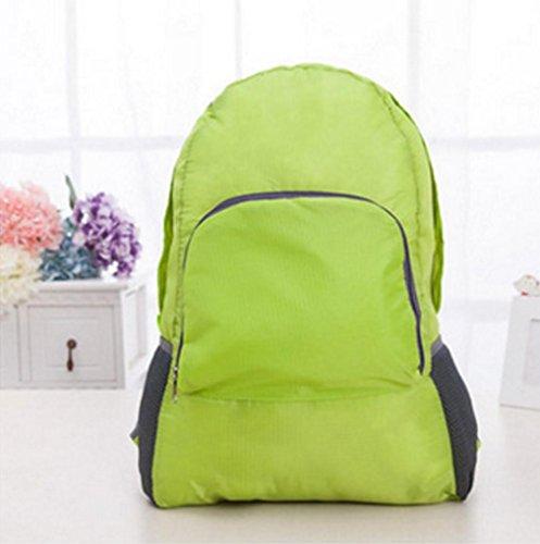 BUSL Hombres y mujeres de viaje plegable mochila deportes montañismo al aire libre impermeables mochila . black Green