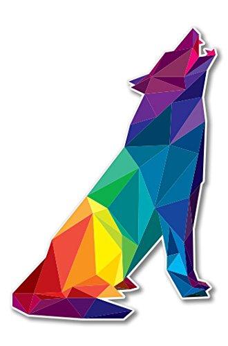 Wolf Triangles Geometric Design Vinyl Sticker - Car Phone Helmet - SELECT SIZE