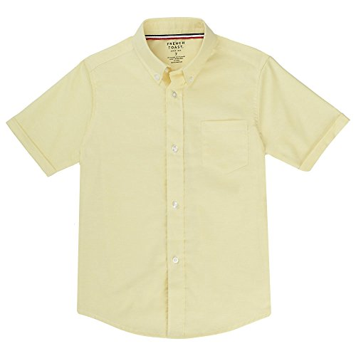 - French Toast Big Boys' Short Sleeve Oxford Dress Shirt, Yellow, 16