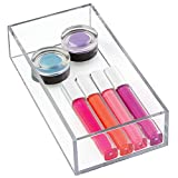 """InterDesign Clarity Cosmetic Drawer Organizer for Vanity Cabinet to Hold Makeup, Beauty Products - 4"""" x 8"""" x 2"""", Clear"""