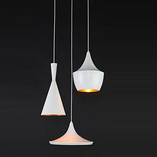 A set of TOM Dixon Beat Bar Counter Ceiling Pendant Lights Dining Room Fixtures Industrial Loft Dining Room Balcony Pendant Lamp Fixtures Chandelier (ABC-Oblong Top-White)