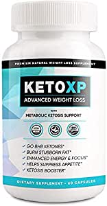 Keto XP Pills, Keto XP Advanced Weight Management Capsules 800 mg, Pure Keto Fast Supplement for Energy, Focus - BHB Ultra Boost Exogenous Ketones for Rapid Ketosis for Men Women