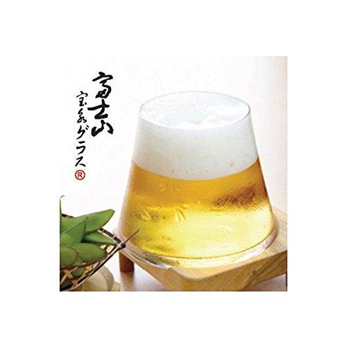 富士山グラス 田島硝子 富士山宝永グラス クリア2個セット 木箱入 ビール