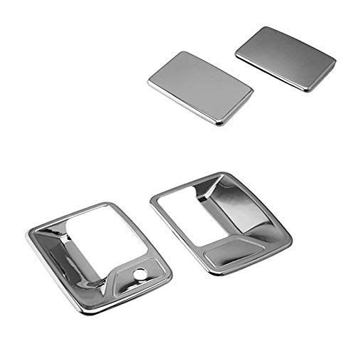SEGADEN Chrome Plated Door Handle Cover fit for 1999-2016 FORD F-250 F-350 F-450 Super Duty (2 Doors Left Hand Drive No Passenger Keyhole) XG7749