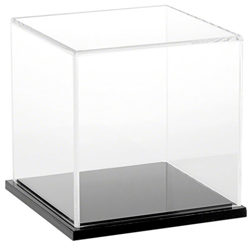 """Plymor Brand Clear Acrylic Display Case with Black Base, 6"""""""