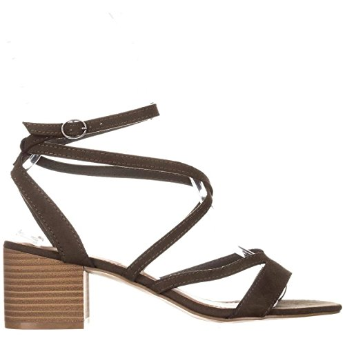 Open Olive Strap Fab Casual Madden Fabric Sandals Womens Leexi Toe Ankle Girl xwvH8OvqI