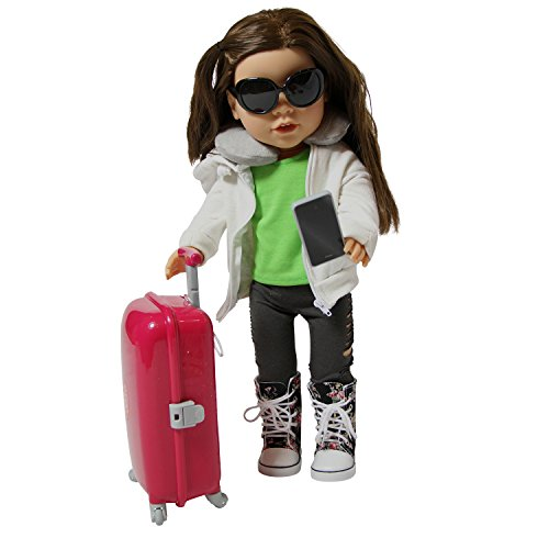 04eeb39218 Doll Travel Suitcase with Accessories - Travel Set for 18 inch Dolls ...