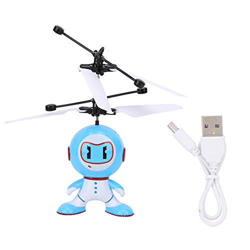 iFCOW Aircraft Flying Robot Toy, Infrared Palm Sensing Flying Induction Robot Children Toy with Light