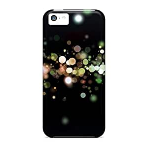 For Iphone 5c Tpu Phone Case Cover(colored Particles)