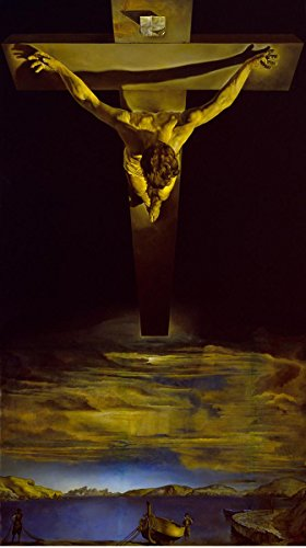 Gifts Delight Laminated 20x35 Poster: Salvador Dali - in Christ of St. John of The Cross 1951 (Dali Christ Of St John Of The Cross)