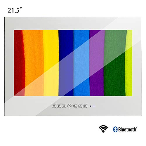 Soulaca 21.5 inches Waterproof Android Vanishing Mirror Bathroom 1080HD LED TV