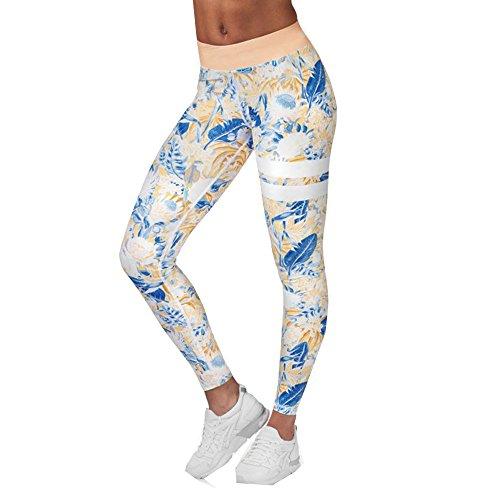 Zolimx Yoga y Ejercicio, Pantalones de Correr de Las Mujeres, Malla Para Correr Naranja