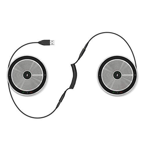 Enterprise Speakerphone - Sennheiser SP 220 MS (507211) - Sound-Enhanced, User-Friendly Mobile Speaker Phone | For Desk/Mobile Phone & Softphone/PC Connection | Skype for Business Certified w/ Major UC Platform Compatibility